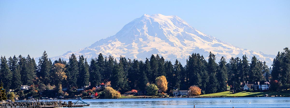 Mount Rainier from American Lake (photo courtesy of the City of Lakewood)